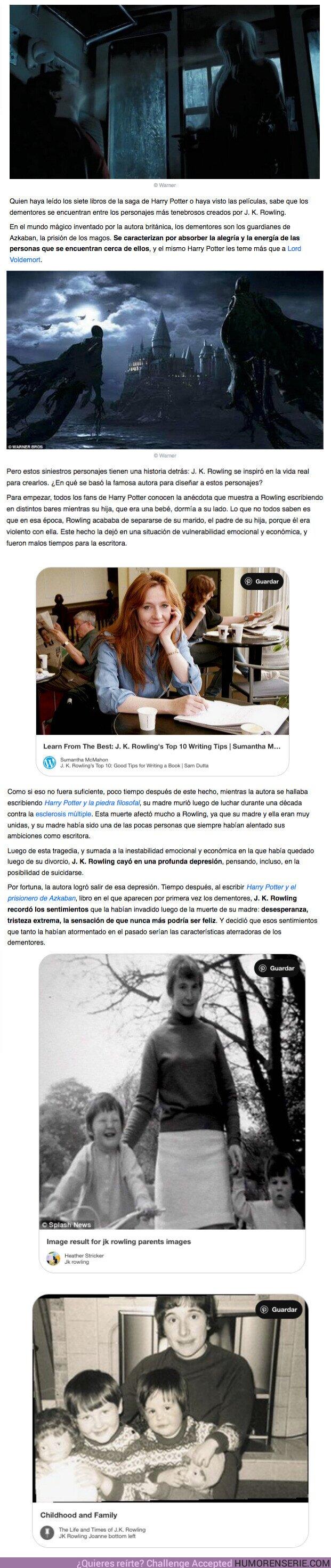 60406 - GALERÍA: La emotiva razón que inspiró a J.K. Rowling para crear a los dementores