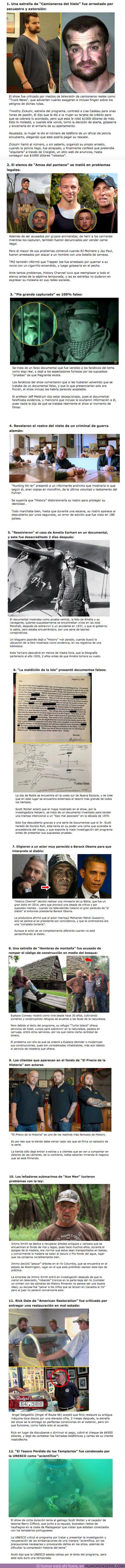 """60580 - GALERÍA: 12 Escándalos que ponen en cuestionamiento la seriedad de """"History Channel"""""""