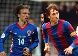 Enlace a Luka Modrić y Johan Cruyff, separados al nacer