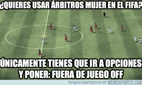 4801 - ¿QUIERES USAR ÁRBITROS MUJER EN EL FIFA?