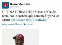 Enlace a Felipe Massa haciendo historia