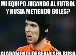 Enlace a Cech no entiende nada, acostumbrado a jugar en el Chelsea