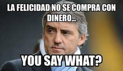 Enlace a Mancini y su Manchester City no opinan lo mismo, ahí está su liga conseguida