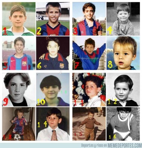 6296 - Futbolistas cuando eran niños: ¿Lograrás adivinarlos todos?