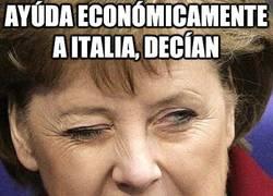 Enlace a Ayúdale economicamente a italia, decian