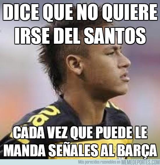 10974 - Neymar como loco por ir al barça