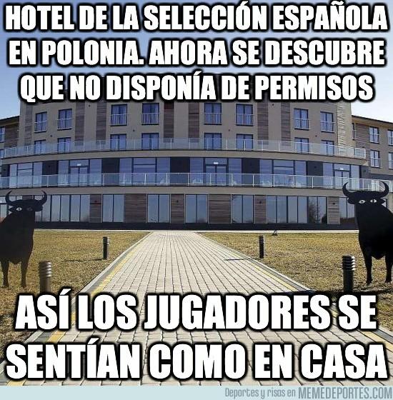 12628 - Este era el hotel de la selección española en Polonia