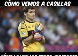 Enlace a Cómo vemos a Casillas, cómo lo ven los jugadores