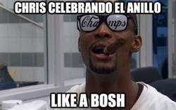 Enlace a Chris celebrando la nba
