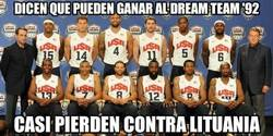 Enlace a Dicen que pueden ganar al Dream Team '92