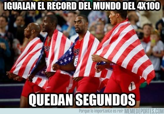 16255 - Igualan el record del mundo del 4x100