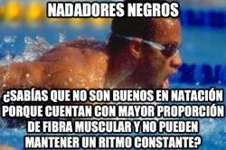 Enlace a Es por eso que verás pocos negros nadando