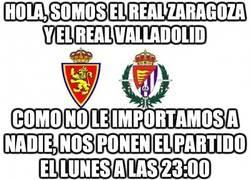 Enlace a Hola, somos el Real Zaragoza y el Real Valladolid