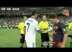 Enlace a VÍDEO: Messi y Cristiano evitan saludarse