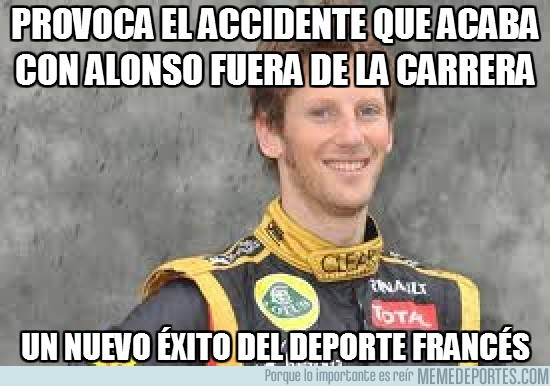 20368 - Provoca el accidente que acaba con Alonso fuera de la carrera