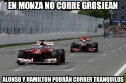 Enlace a En Monza no corre Grosjean