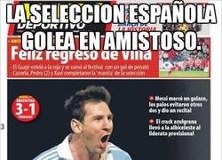 Enlace a La selección española golea en un amistoso