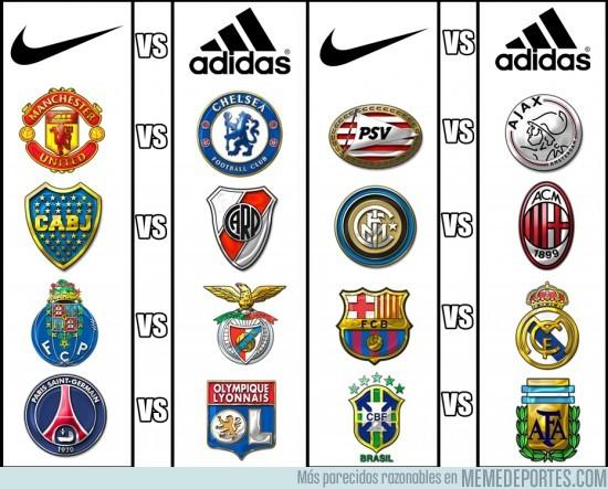 Memedeportes Rivales Verdaderos Los Adidas Nike Son Y 7qr7nwFP