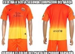 Enlace a Esta iba a ser la segunda equipación del Barça
