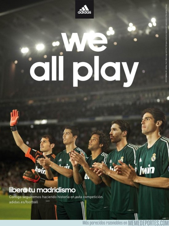 22976 - ¿We all play? Adidas trolleando a kaká
