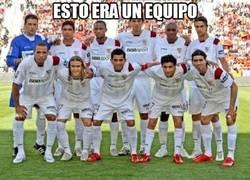 Enlace a Sevilla de las Uefa contra Sevilla actual