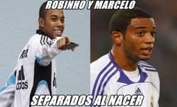 Enlace a Robinho y Marcelo, separados al nacer