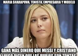 Enlace a Maria Sharapova. Tenista, empresaria y modelo