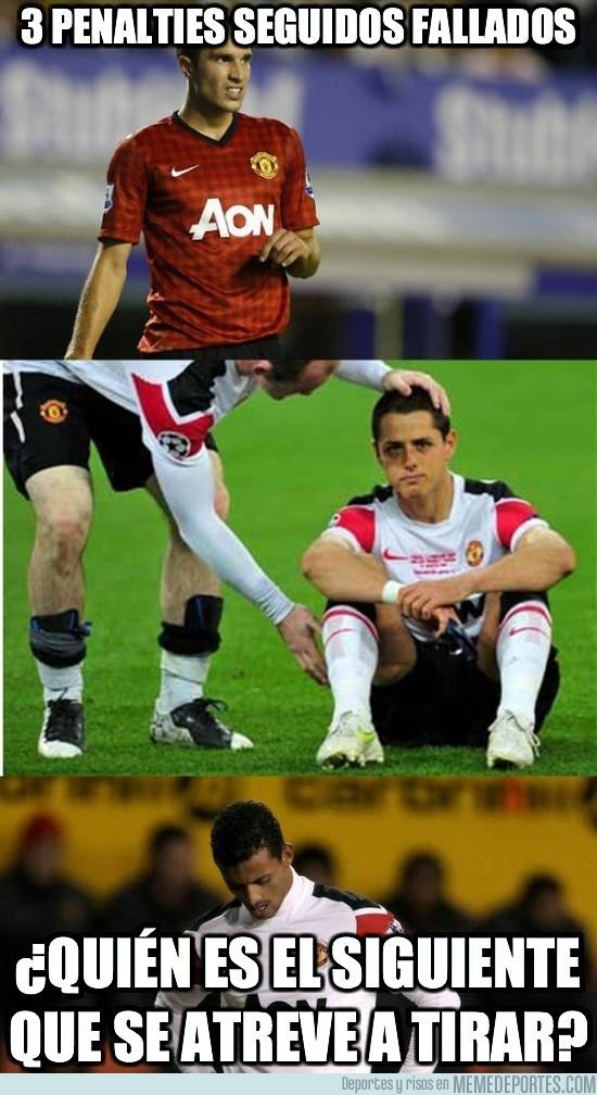 24498 - Manchester United. 3 de 3 penalties fallados