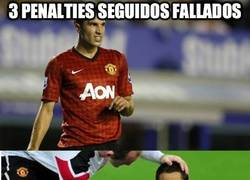 Enlace a Manchester United. 3 de 3 penalties fallados