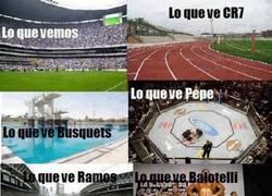 Enlace a Campos de fútbol desde distintas perspectivas