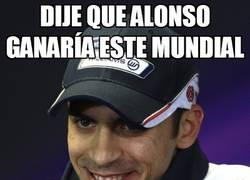 Enlace a Dije que Alonso ganaría este mundial