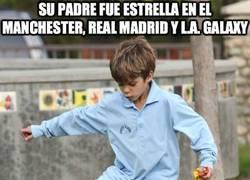 Enlace a Su padre fue estrella en el Manchester, Real Madrid y L.A. Galaxy