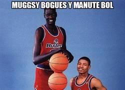 Enlace a Muggsy Bogues y Manute Bol