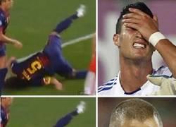 Enlace a Merengues y la lesión de Puyol