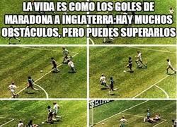 Enlace a La vida es como los goles de Maradona a Inglaterra