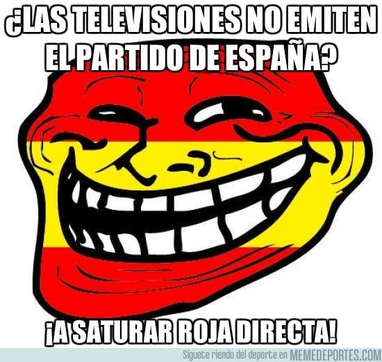 29176 - ¿Las televisiones no emiten el partido de España?