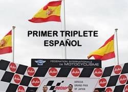 Enlace a Moto GP: Histórico primer triplete Español
