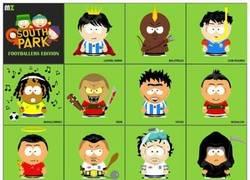 Enlace a Futbolistas según South Park