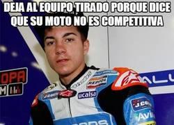 Enlace a Deja al equipo tirado porque dice que su moto no es competitiva