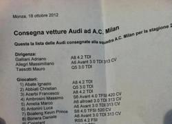 Enlace a Los Audi que han elegido los jugadores del AC Milan, ¿cuál escogerías tú?