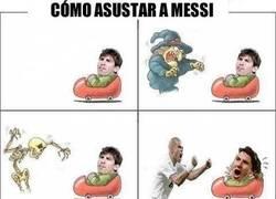 Enlace a Cómo asustar a Messi