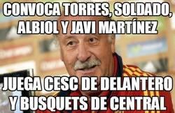 Enlace a Convoca Torres, Soldado, Albiol y Javi Martínez