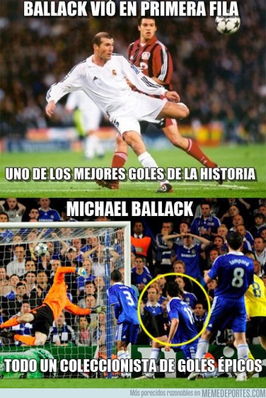 31704 - Y no contento con ver el gol de Zidane en primera fila...