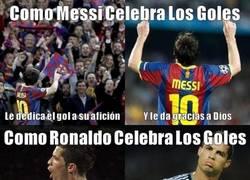 Enlace a La Celebraciones de Messi y Ronaldo