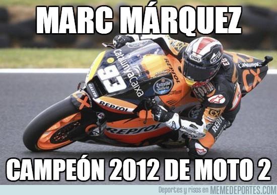 32953 - Márquez, campeón de Moto2. Te esperamos en MotoGP en 2013