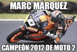 Enlace a Márquez, campeón de Moto2. Te esperamos en MotoGP en 2013