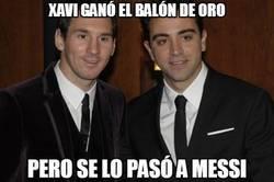 Enlace a Xavi ganó el balón de oro