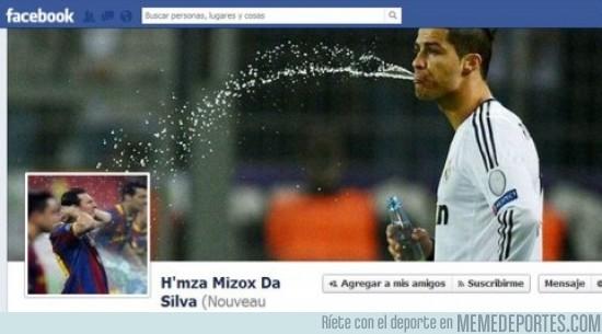 33893 - Cristiano Ronaldo dando un baño a Messi, definición gráfica
