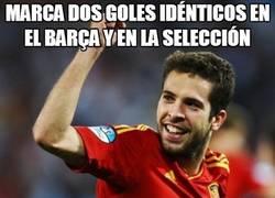 Enlace a Marca dos goles idénticos en el barça y en la selección