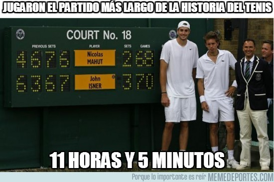 35989 - Longest tennis match EVER
